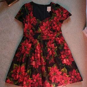 Modcloth Positively Poinsettias Dress